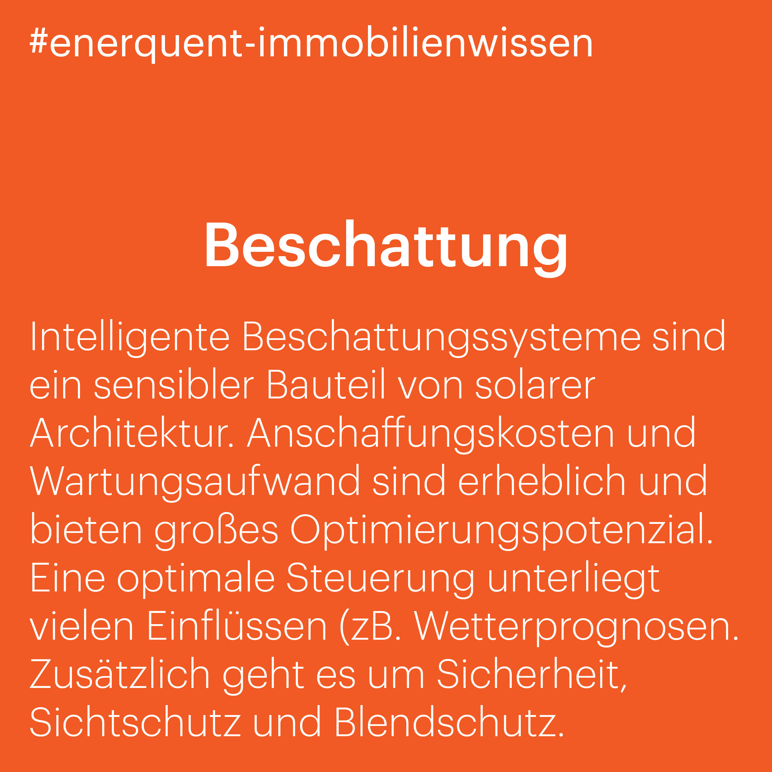 Intelligente Beschattung